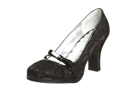 Black lace shoes | ShoeSpotlight.com :  sexy lace lace pumps lace heels rampage