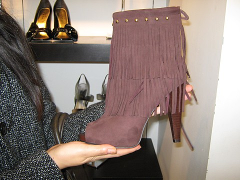 bebe fringe boots on sale for $139.99