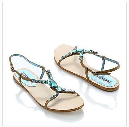 Love these adorable Tiara Jeweled Sandals from Charles David
