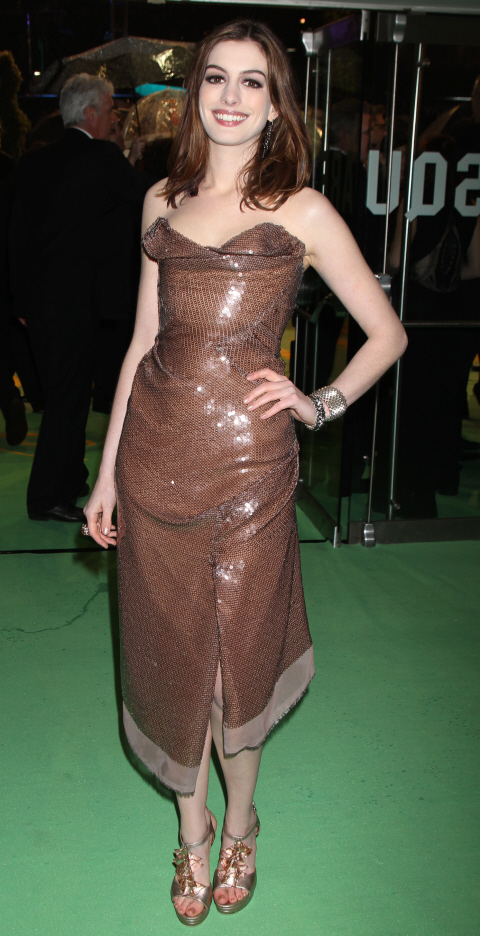 Anne Hathaway in Vivienne Westwood dress
