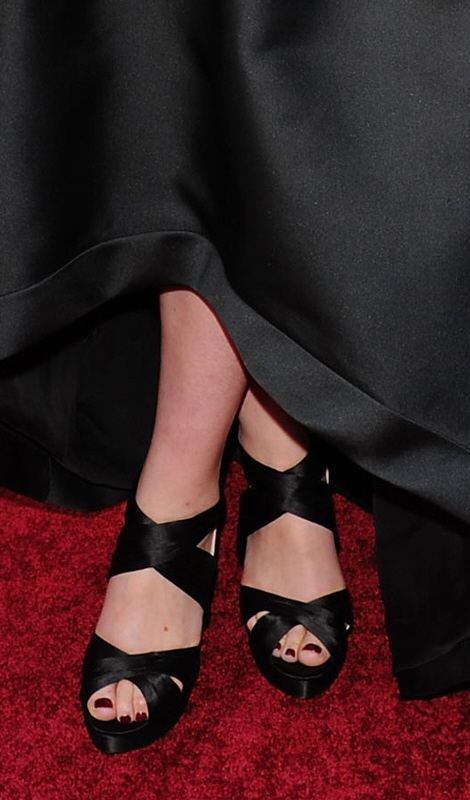 Carey Mulligan Prada platforms at Oscar's