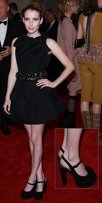 3fa0afc0aa5 Emma Roberts in Marni dress and mary-jane platforms | Shoespotlight ...
