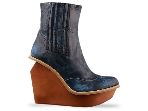 Jeffrey Campbell Brisbane wedge bootie in Navy