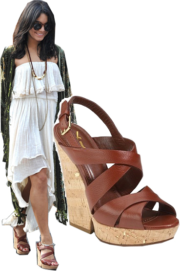 Ysl Deauville Sandals As Seen On Vanessa Hudgens