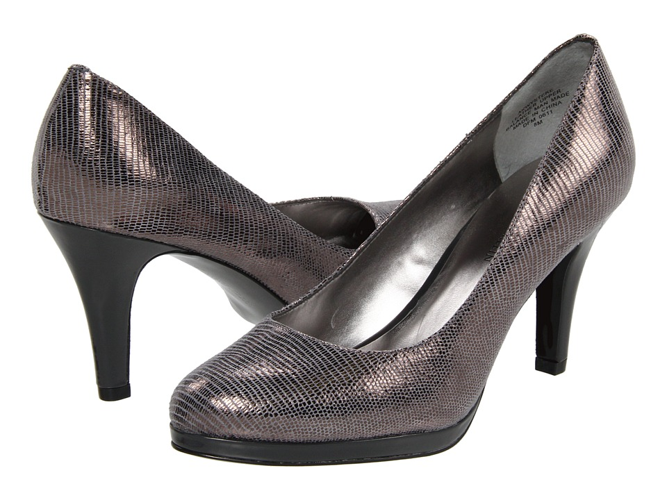 Anne Klein Wystere heels in Pewter Mini Lizard