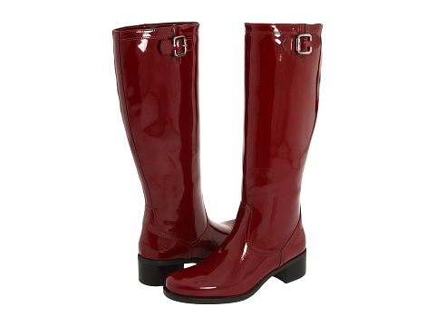 cherry patent rain boots by La Canadienne