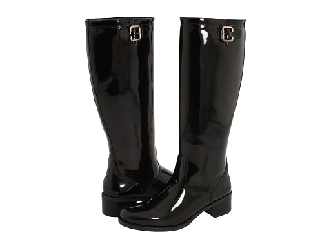 Look for less Burberry riding rain boots in patent leather ...