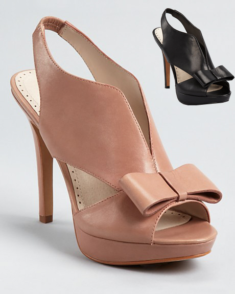 bow slingbacks