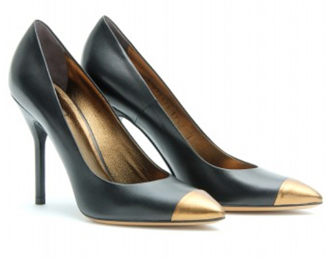 metal cap toe pumps